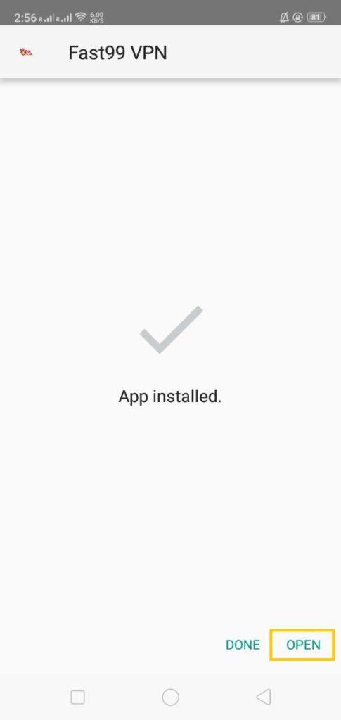 panduan download aplikasi vpn fast99 step 2